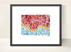 Seoul South Korea City Map Original by richardedalton on Etsy