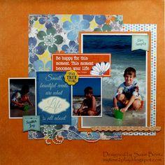 Beach Scrapbook Layout Idea