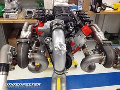 Caption this...  It's an LS Motor with twin turbos & a #supercharger. -Ryan C   https://www.lingenfelter.com/engine-packages
