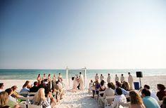 Wedding ceremony on the beach followed by a reception at the Gasparilla Inn in Boca Grande, FL  #SouthernWeddings
