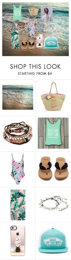 """#beachgirl @lividubs contest"" by bakercakes ❤ liked on Polyvore featuring Rebecca Minkoff, Mara Hoffman, PBteen, Casetify and Vans"