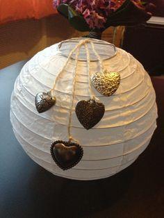 Decoratie bruiloft; lampion met batterij waxinelichtje