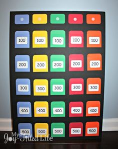 Make your own Jeopardy game board that you can use with any subject or topci. Free printable template available here. Kool Aid, Ana White, Therapy Activities, Activities For Kids, Nutrition Activities, Nutrition Classes, Articulation Activities, Food Nutrition, Nutrition Guide