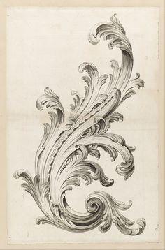 Filigree leaf pattern