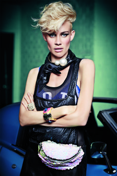 """""""Twin Set"""", starring Miriam and Olivia Nervo, March 30 issue. Shot by Michael Numhoff and styled by David Bonney."""