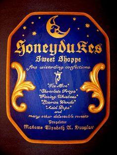 Harry Potter Honeydukes sign!