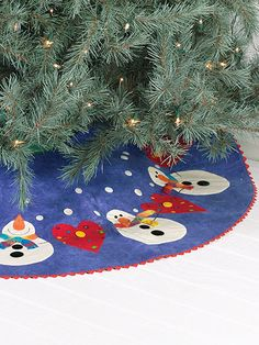 Quilting - Holiday & Seasonal Patterns - Christmas Patterns - Snowman Tree Skirt
