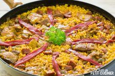 Recette de «riz campagnard» au chorizo et au travers de porc