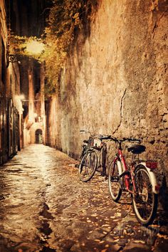 Bicyles of Florence  from Etsy shop All Is Light- Tuscany Photography, fine art print, vintage decor, 8x12 photo, wall print, home decor. $29.00, via Etsy.