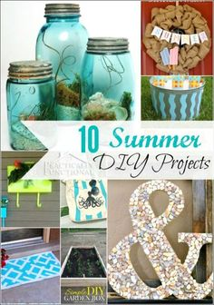 10 amazing summer DIY projects that are perfect for celebrating the season! #homedecor #summerprojects