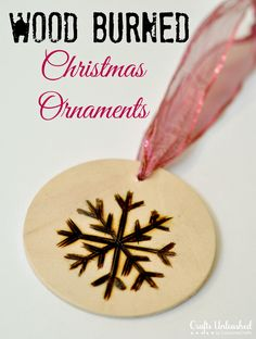 Wood Burned Christmas Ornaments