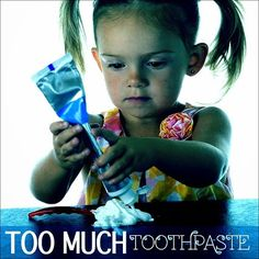 Are you using too much toothpaste when you brush? A pea-sized amount is just enough! #Toothpaste #Brush #Floss