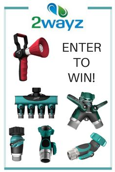 When it comes to watering equipment, there is no 2wayz about it, this week's giveaway offers up some great prizes! 2wayz is a premium gardening equipment company which is slowly but surely revolutionizing the gardening tools industry. Enter to win one of these 3 prize bundles: FIRST PRIZE: 2 Way Hose Splitter + 4 Way Hose Splitter SECOND PRIZE: 2 Way Hose Splitter + 90° Hose Elbow + 45° Hose Elbow THIRD PRIZE: Straight Shutoff Valve + Fireman Style Hose Nozzle Giveaway ends 7/2/17