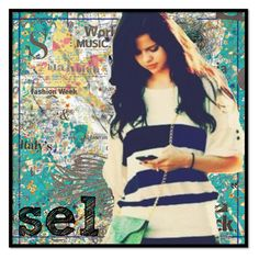 """sel--{ILoveYou!} XP"" by selena-gomez ❤ liked on Polyvore featuring art"