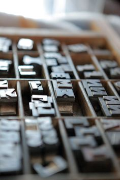Dusting some lead type over the weekend. Here's Gill Sans Bold, 60pt before the sprucing...