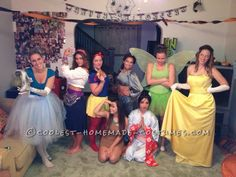 Disney Princesses Come to Life Group Costume... This website is the Pinterest of costumes