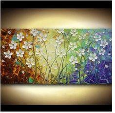telas de flores abstratas - Pesquisa Google                                                                                                                                                                                 Mais