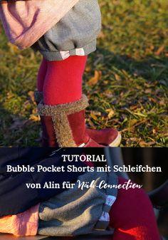 Näh-Connection | Bubble Pocket Shorts mit Schleifchen - ein Tutorial von Alin