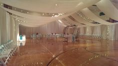 Gone are the days where weddings and wedding receptions mean securing the reception hall at one's local church that is around the corner. Gym Wedding Reception, Winter Wedding Receptions, Space Wedding, Wedding Reception Decorations, Wedding Venues, Backdrop Decorations, Reception Ideas, Night To Shine, Wedding Venue Inspiration