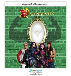 """Kit Festa """"Descendentes Disney"""" para Imprimir Gratuito. - Convites Digitais Simples"""