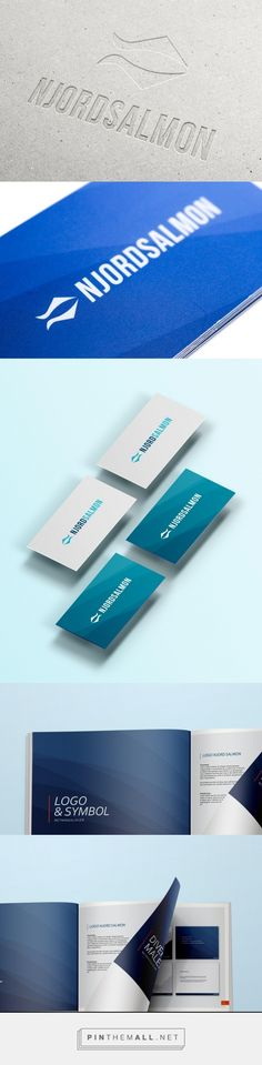 Logo & Brand design for Njord Salmon. Business cards, Brand manual, PowerPoint templates.