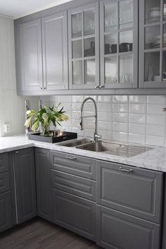 Mitt vakre hjem i Surnadal Kitchen Room Design, Kitchen Colors, Interior Exterior, New Kitchen, Kitchen Cabinets, House, Inspiration, Budapest, Home Decor