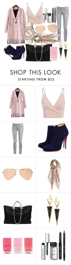 """""""shopping day"""" by thanyaphat on Polyvore featuring Frame Denim, Christian Louboutin, Ray-Ban, masha & kate, Chanel, Lana, Nails Inc., Bobbi Brown Cosmetics, Ted Baker and women's clothing"""
