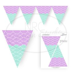 Mermaid Party, Mermaid Party Printable, Mermaid Banner - Mermaid Party Decoration, Under the Sea Party, Birthday Banner - INSTANT DOWNLOAD by NRCDesignStudio on Etsy