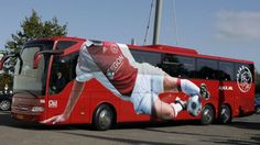 Spelersbus Ajax.