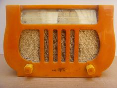 RARE Art Deco Dewald Model A501 Yellow Lyre Catalin Tube Radio 1938 | eBay