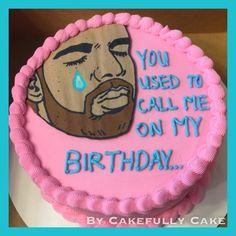 Drake Hotline Bling birthday cake -by Cakefully Cake