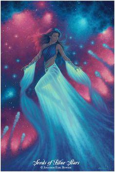 Göttin der Träume und Erfüllung | Jonathon Earl Bowser, Seeds of Blue Stars