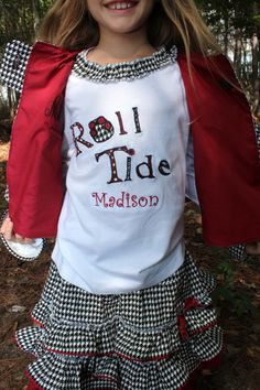 Custom Alabama ROLL TIDE appliqued tee RUFFLE by MyOnlySunshine01, $68.00