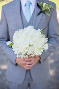 very pretty, simple, white bouquet