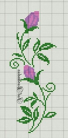 Really nice Cross-Stitch towel flower pattern. Cross Stitch Bookmarks, Cross Stitch Borders, Cross Stitch Rose, Cross Stitch Flowers, Cross Stitch Charts, Cross Stitch Designs, Cross Stitching, Cross Stitch Embroidery, Embroidery Patterns