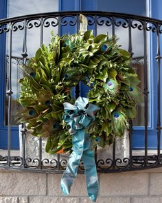pretty as a peacock wreath by Circle Home and Design