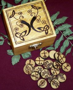 Ogham runes. Wicca Runes, Wiccan, Witchcraft, Larp, Decoupage, Rune Stones, Celtic Tree, Book Of Shadows, Pyrography