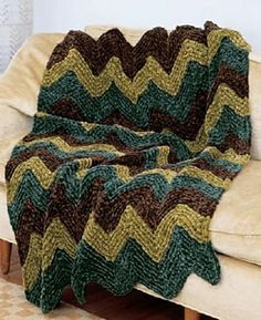 Sumptuous Ripple Afghan.
