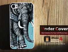 iphone 4 case - AZTEC Elephant- 2 of my fav things elephants and Aztec