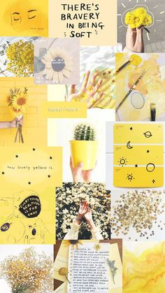 Wallpaper Yellow Aesthetic Collage 59 Ideas For 2019