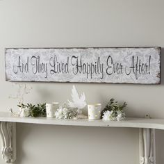 And They Lived Happily Ever After Large Plaque-LONG