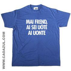 MAI FREND t-shirt cão azul