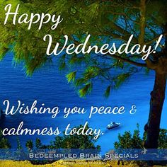 Happy Wednesday Wishing You Piece And Calmness Today