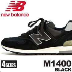 New balance NEW BALANCE M1400 black shoes Sneakers Shoes running classic United States MADE IN U S A... BLACK nyannyannu type M1400
