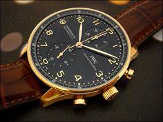 IWC Portugueser black dial 18K Rose Gold Ref. 371415