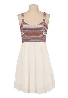 Textured open racerback dress (original price, $39) available at #Maurices
