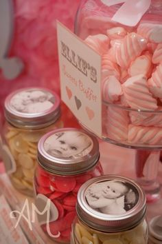 Pink Elephant Birthday Party - Mason Jar Favors *will make it blue* Elephant Party, Elephant Birthday, Pink Elephant, 1st Birthday Girls, First Birthday Parties, First Birthdays, Birthday Ideas, Birthday Banners, Birthday Invitations