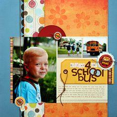 *Waiting 4 The School Bus* - Scrapbook.com Fancy Pants Designs - Delight Collection