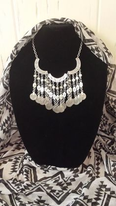 Statement necklace silver necklace bohemian by LoveAllThingsUnique