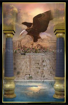 Eagle of Heaven, James Nesbit prophetic art. Christian Warrior, Christian Art, Prophetic Art, Lion Of Judah, Psalm 110, Prayer Warrior, Celestial, Word Of God, Holy Spirit